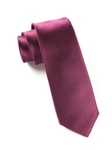 The Tie Bar Wine Solid Necktie