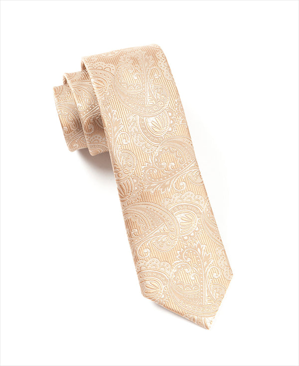 The Tie Bar Champagne Paisley Necktie