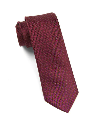 The Tie Bar Burgundy Speckled Necktie