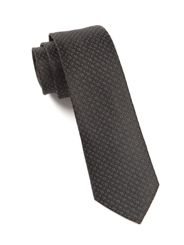 The Tie Bar Black Speckled Necktie