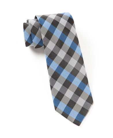 The Tie Bar Blue Gingham Fusion Necktie