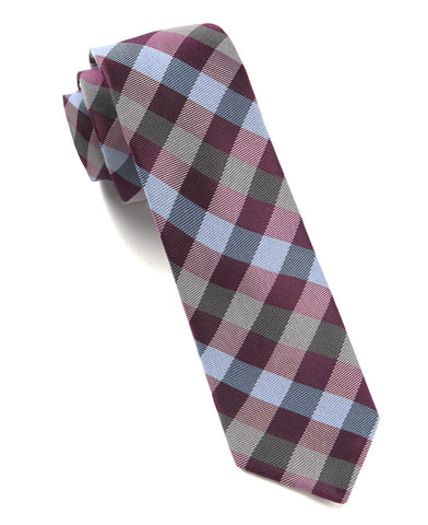 The Tie Bar Azalea Gingham Fusion Necktie