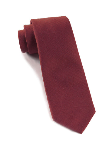 The Tie Bar Burgundy Astute Solid Necktie