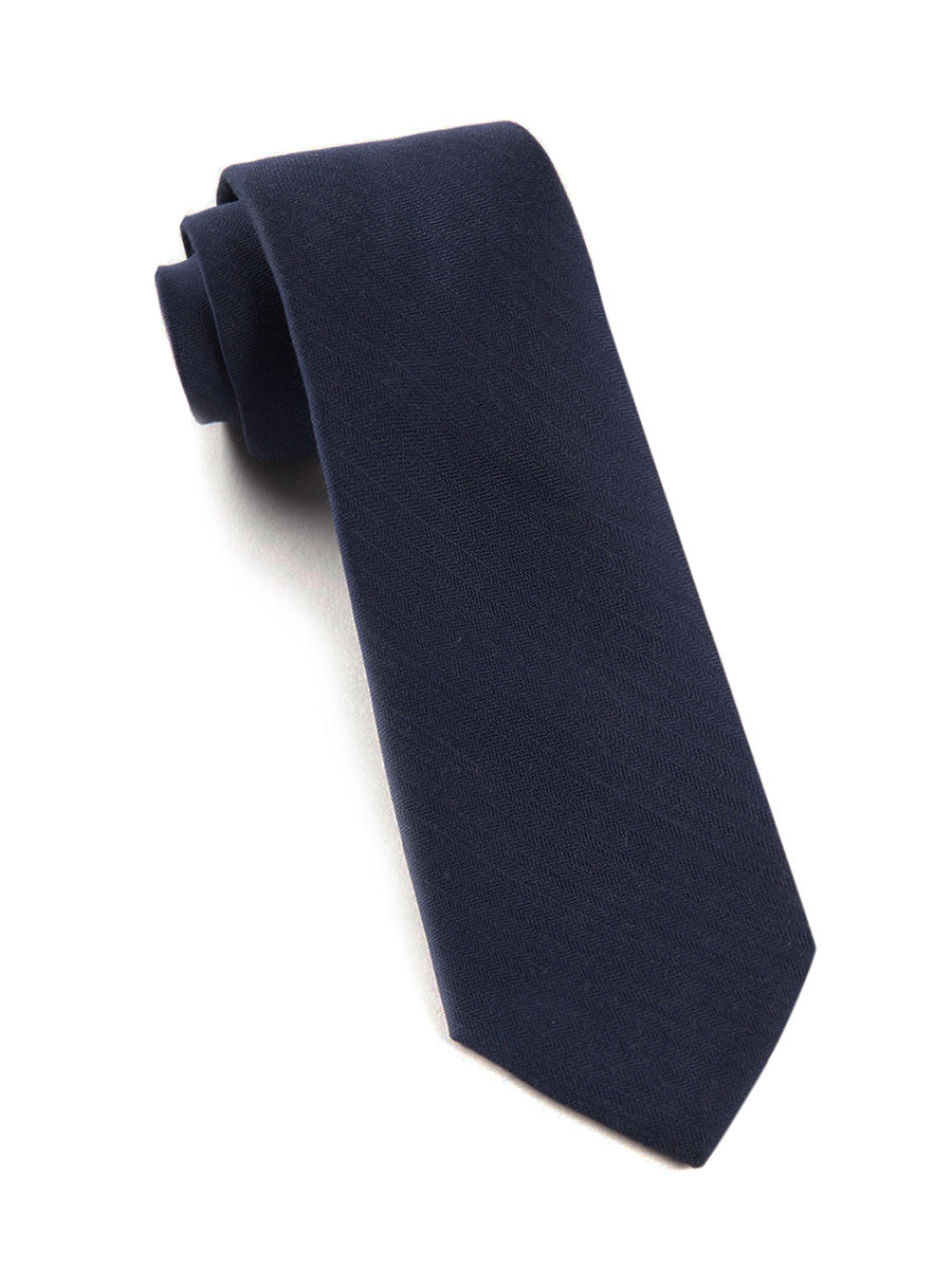 The Tie Bar Navy Astute Solid Necktie
