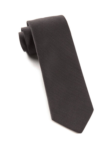 The Tie Bar Charcoal Astute Solid Necktie