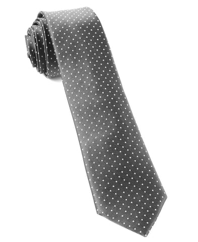 The Tie Bar Charcoal Mini Dots Necktie