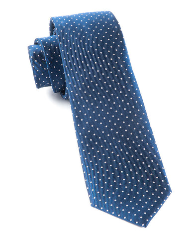 The Tie Bar Classic Navy Mini Dots Necktie