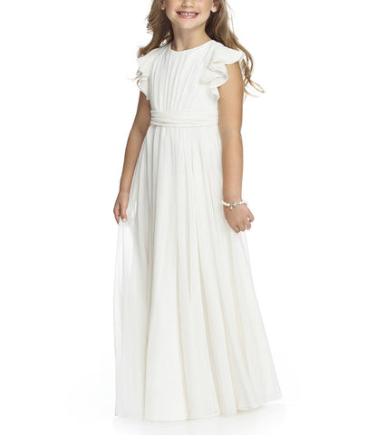 Dessy Flower Girl Dress Style FL4038 in Ivory - Front