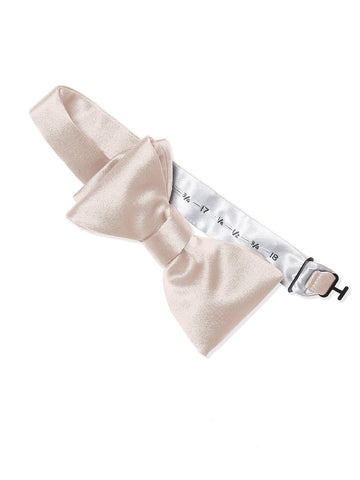 Dessy Blush Matte Satin Bow Tie