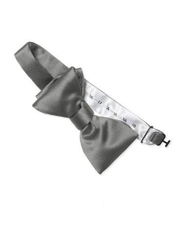 Dessy Charcoal Gray Matte Satin Bow Tie