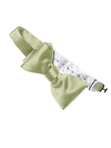 Dessy Mint Matte Satin Bow Tie