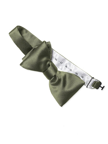Dessy Moss Matte Satin Bow Tie