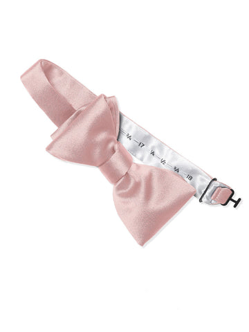 Dessy Rose Matte Satin Bow Tie