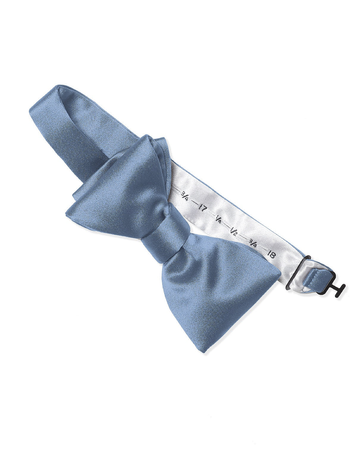 Dessy Windsor Blue Matte Satin Bow Tie