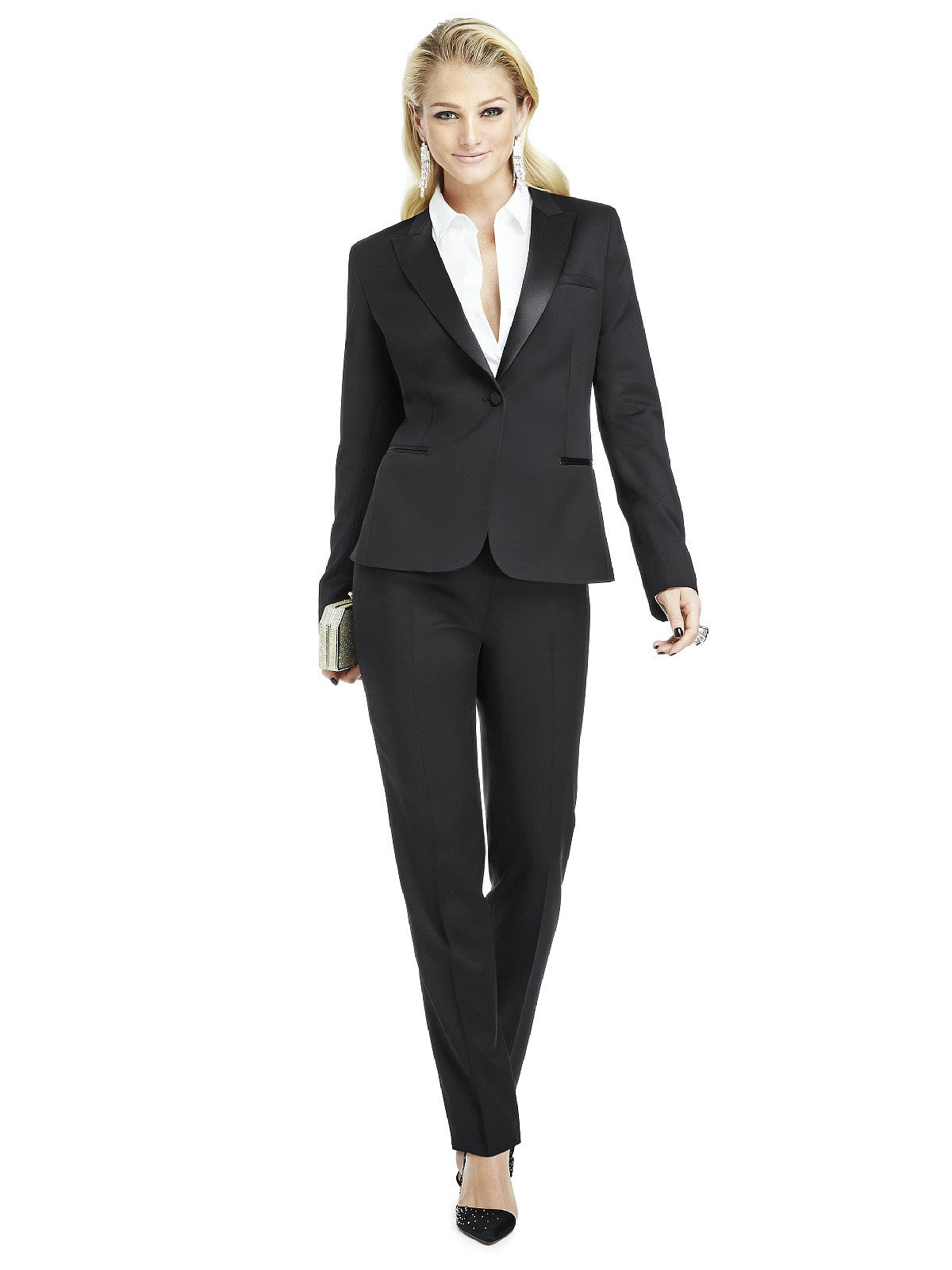 After Six Style Marlowe Women's Tuxedo Jacket - Peak Collar
