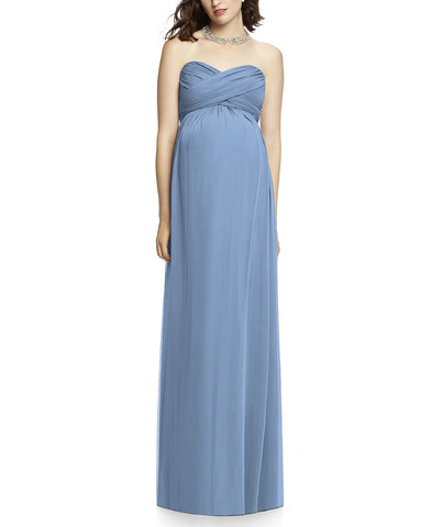 Dessy Maternity Style M426 in Windsor Blue - Front