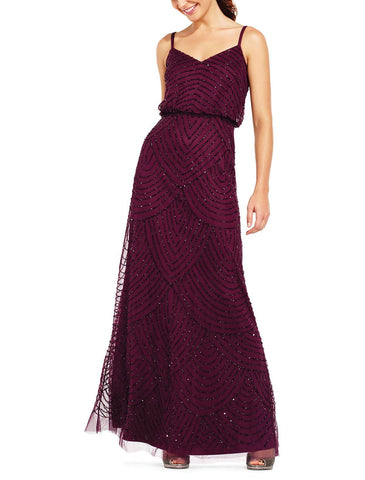 Adrianna Papell Art Deco Blouson Gown