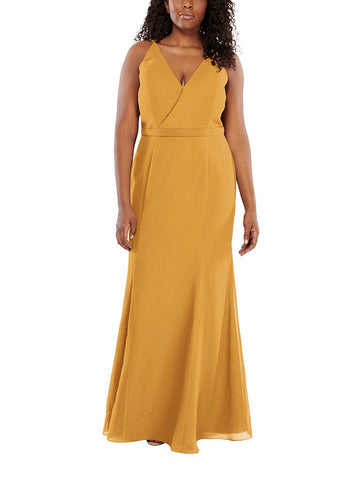 Aura Aria Bridesmaid Dress in Citrine - Front