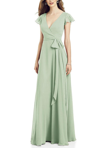 After Six Bridesmaid Dress Style 6817 in Celadon - Front