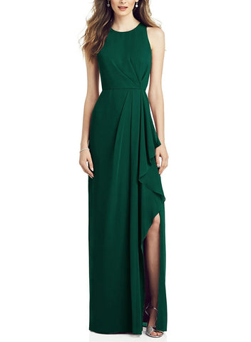 After Six Bridesmaid Dress Style 6818 in Hunter - Front