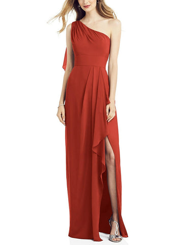 After Six Bridesmaid Dress Style 6819 in Amber Sunset - Front
