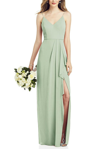 After Six Bridesmaid Dress Style 6820 in Celadon - Front