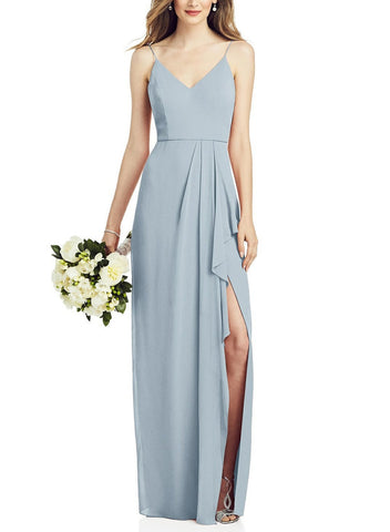 After Six Bridesmaid Dress Style 6820 in Mist - Front