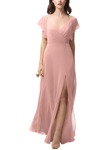 Jenny Yoo Alanna Bridesmaid Dress in Rosewater - Front