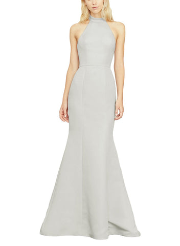 Amsale Austin Bridesmaid Dress in Platinum - Front