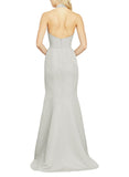 Amsale Austin Bridesmaid Dress in Platinum - Back