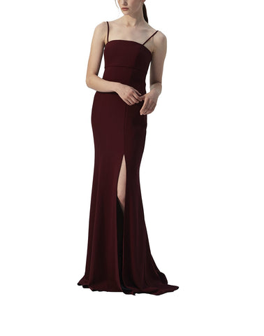 Amsale Bray Bridesmaid Dress in Ruby - Front