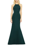 Amsale Carter Bridesmaid Dress in Hunter - Front