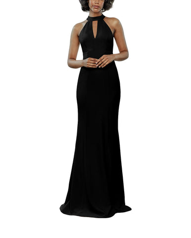 Amsale Caterina Bridesmaid Dress in Black - Front