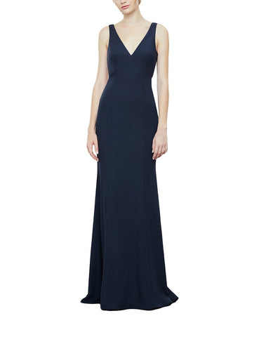 Amsale Gwyneth Bridesmaid Dress in Navy - Front
