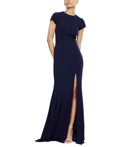 Amsale Harlee Bridesmaid Dress in Navy - Front