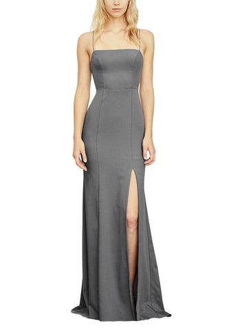 Amsale Jade Bridesmaid Dress in Graphite - Front
