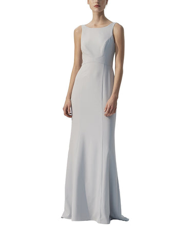 Amsale Joelle Bridesmaid Dress in Vintage Ice - Front