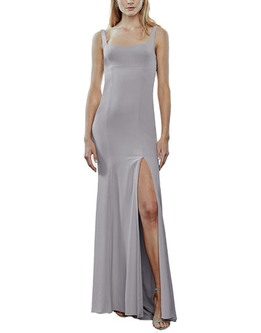 Amsale Kenna Bridesmaid Dress in Dove - Front