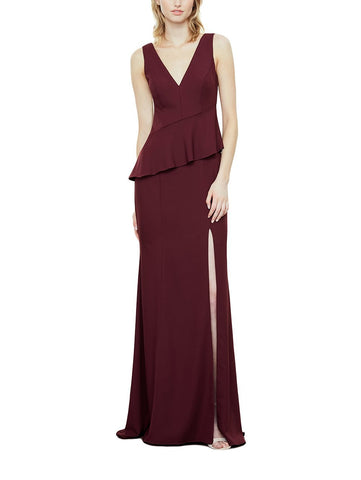 Amsale Leila Bridesmaid Dress in Ruby - Front
