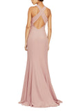 Amsale Mila Bridesmaid Dress in Thistle - Back