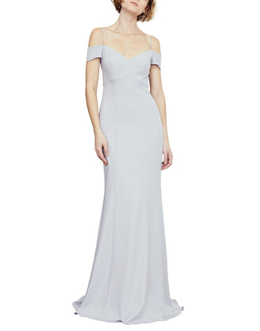 Amsale Sienna Bridesmaid Dress in Vintage Ice - Front