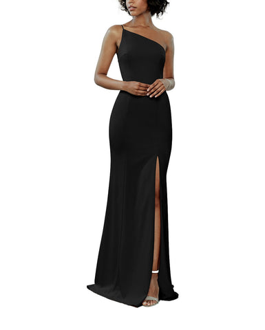 Amsale Sloan Bridesmaid Dress in Black - Front