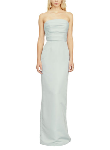 Amsale Sonia Bridesmaid Dress in Ice - Front