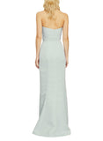 Amsale Sonia Bridesmaid Dress in Ice - Back