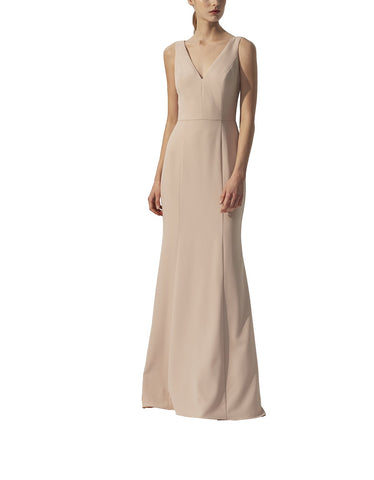 Amsale Sydney Bridesmaid Dress in Fawn - Front
