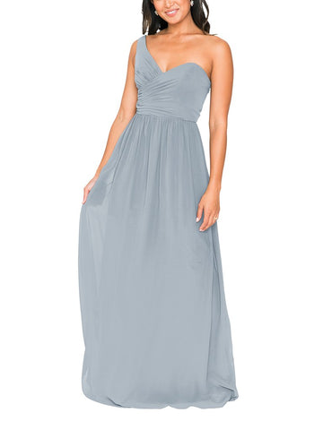 Brideside Amy Bridesmaid Dress in Sky - Front