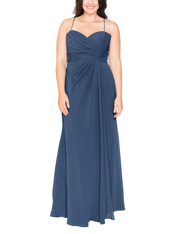 Brideside Ashley Bridesmaid Dress in Lagoon - Front