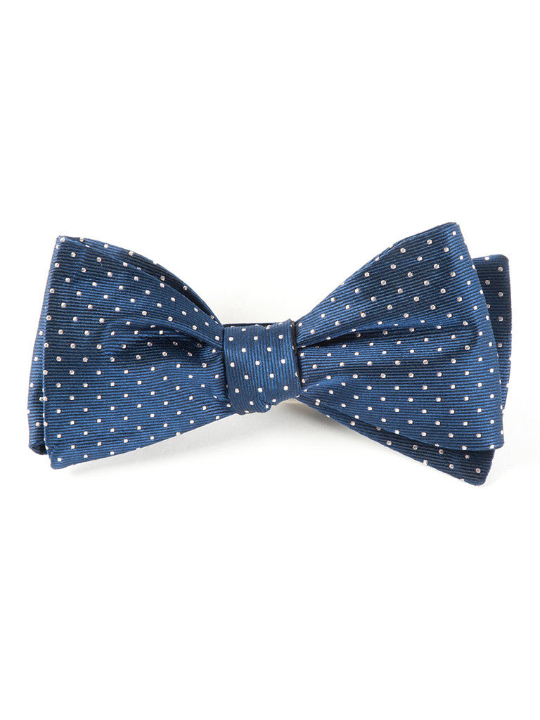 The Tie Bar Classic Navy Mini Dots Bow Tie
