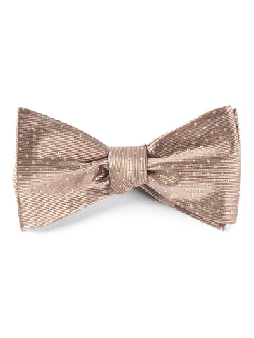 The Tie Bar Champagne Mini Dots Bow Tie