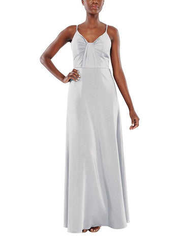 Aura Bianca Bridesmaid Dress in Ice - Front